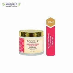 Rangrej''s Aromatherapy Bulgarian Rose Otto Glow Face Gel For Skin Lighten/Brighten/Glowing