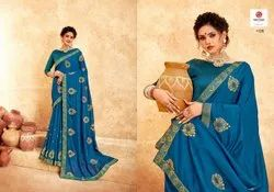 Casual Wear Border SAREE, With blouse piece, 5.5 m (separate blouse piece)