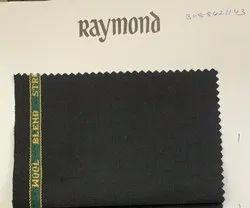 Poly Wool Black Raymond Suiting Fabric