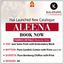 Kalarang Fashion Aleena Jam Satin Embroidery Work Dress Material Catalog