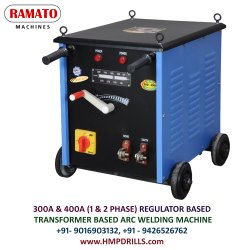 RAMATO 400 Amp Regulator Welding Machine (Air Cooled Transformer Based)