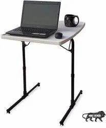 Dual Multipurpose Portable Laptop Table(Standard, Marble White)