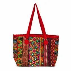 Handicrafts Cotton Bags, Capacity: 5 Ltr, Size: 13*13