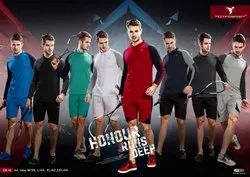 Polyester MIX COLORS Techno Sports FULL SLEEVES COLLOR T Shirts, Age Group: 14 Above