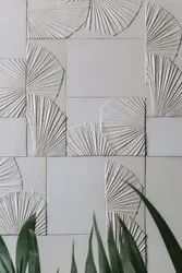 White 3d Stone Wall Tiles, Size: Medium, Thickness: 20-22 Mm