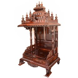 Brown Traditional Rosewood Pooja Mantap, For Home