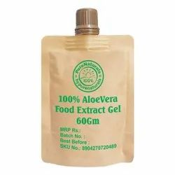 byPureNaturals 100% Aloevera Food Extract Gel For Acne, Skin And Hair - 60gm