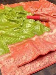 archit Party Wear Silk Banarasi Saree, 6.3 m (with blouse piece)