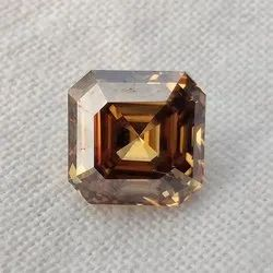 Brown Color Asscher Cut Loose Moissanite For Jewelry Use
