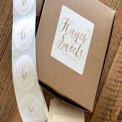 Paper Cake Box Stickers