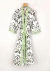 Designer Printed Kimono Robe
