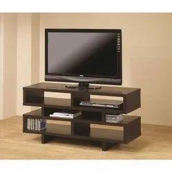Unique Interiors Brown Wooden TV Unit Cabinet, For Home