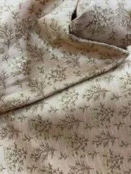 Jacquard Printed On Pure Silk Fabric
