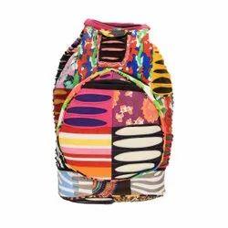 Fabric Multicolor New Design Handicraft Rajasthani Shoulder Bag, Size: 13*13