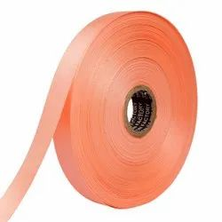 Double Satin NR - Peach Ribbons 25mm/1''Inch 20mtr Length