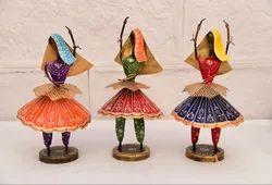 Iron Kalbeliya Dancing Ladies Doll Set