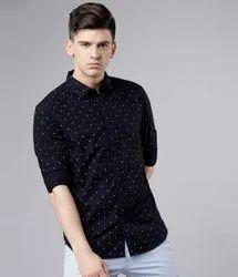 Mens Casual Fashion Printed Cotton Shirts, Size: M-xxl