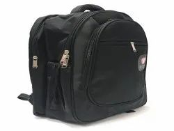 Hi Trend HT Series Premium Polyester Laptop Backpack Plain Black For College/Office/Travel - 40 L
