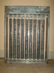 Duct With Strip Finned Heater