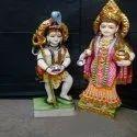 White Marble Maa Annapurna Lord Shiva Statue