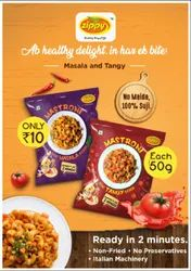 Tangy Masala Mastroni Instant Macaroni Ready in just 2 Minutes, For Food Product