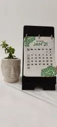 2021 English Printed Table Calendar, For Office