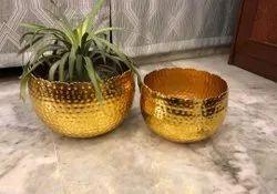 Gold Plant Pots