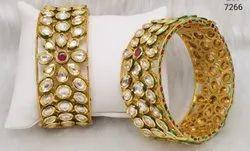Stylish Kundan Bangles