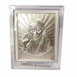 Aluminium Sai Baba Silver Frame