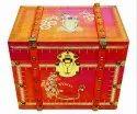 Pink Treasury Box Up Card Ultra Super Premium Wedding Invitation Card - Knkup029