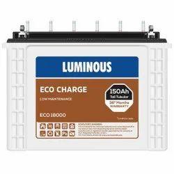Luminous Eco Charge EC18000 150Ah Tall Tubular Battery