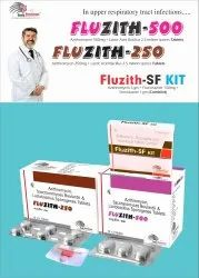 FLUzith-500 Tablet AZITHROMYCIN 500MG + LAB 2.5MS
