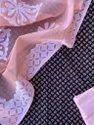 Cotton Formal Wear Ajrakh Print Top With Aplique Dupatta Suit, Dry Clean