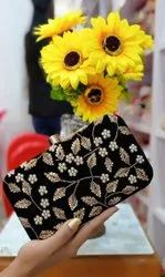 Black Designer Clutch For Women
