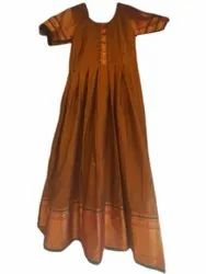 Bangalori Silk Party Wear Ladies Designer Floor Length Kurti, Wash Care: Handwash