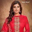 Cambric Cotton Printed Unstitched Salwar Suit -12 Pcs Set