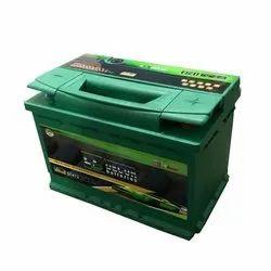 装饰黑色,绿色DIN74 74Ah汽车电机电池,电压:12V
