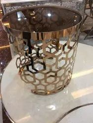 Round Rose Gold PVD Coated Furniture, For Residential, Material Grade: 304
