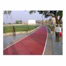 Rubber Matte Jogging Track Flooring
