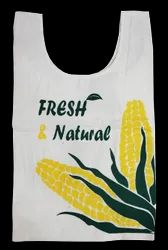 15 Inch White Grocery Bag