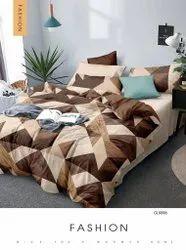 什锦棉花花卉印花书折叠床单,1个床单2枕套,尺寸:90 * 100英寸
