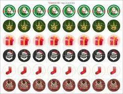 White Tickprints Merry Christmas Vinyl & Transparent Stickers, For Kids Bedroom
