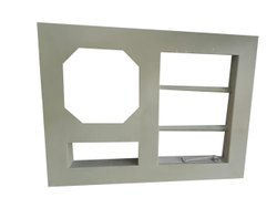 Mild Steel Galvanized Metal Ventilator Frame, For Home,Hotel Etc., Grade Of Material: Gi Steel