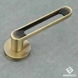 Hollow Handle Antique Zinc Lever Handle For Entrance Doors-02