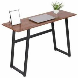 Metal Study Table With Wooden Top.