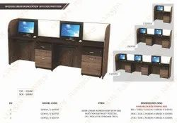 Wooden Linear Workstation With Side Partition