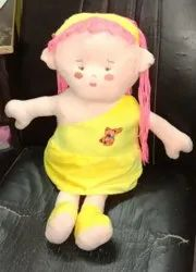 Cotton (Outer) Yellow Baby Doll Soft Toy