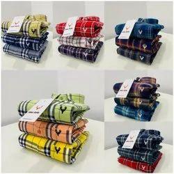 UNBRANDED Checks Mens Checked Cotton Shirt, Machine wash, Size: M L Xl