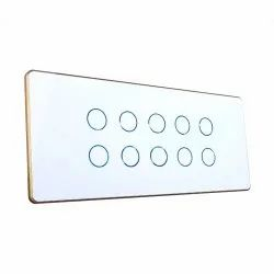 Capacitive White Modular Touch Switches, 12M, 16A