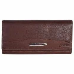 Hawai Genuine Leather Brown Wallet with Multiple Card Slots and Coin Holder for Women and Girls